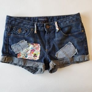 Banana Republic jean shorts patches embellished 6